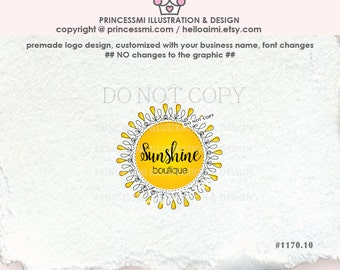 1170-10 sunshine logo, sun logo, doodle sun, doodle frame, border, sun,  photographer, business logo, boutique, photography