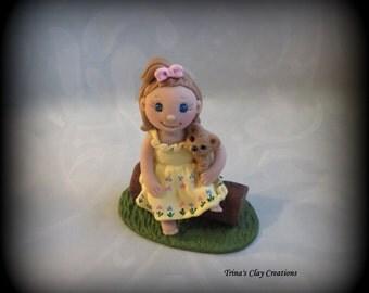 Birthday Cake Topper, First Birthday, Custom Cake Topper, Personalized, Polymer Clay