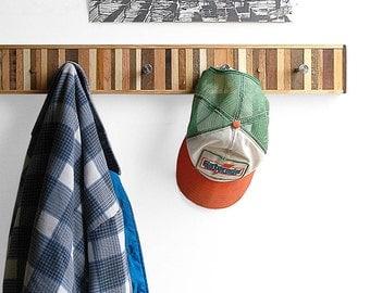 5 Hook Coat Rack Recycled Wood  - Chonko Style