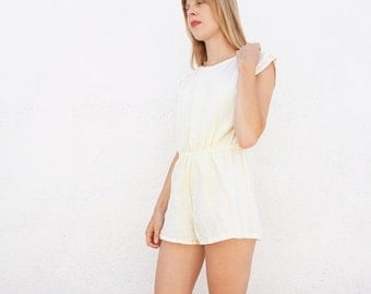 Romper Cotton 80s Yellow sz. S