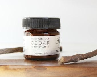 Cedar Beard Balm | Conditioning Cream For Facial Hair | 100% natural + vegan - TRAVEL SIZE
