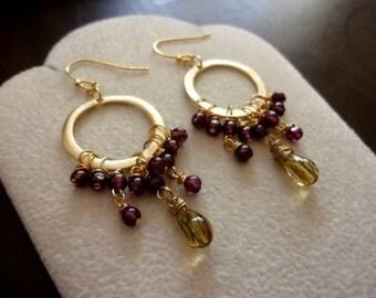 Cascading Drop Earrings. Dangle Earrings. Chandelier Earrings. Modern Jewelry. Gift.