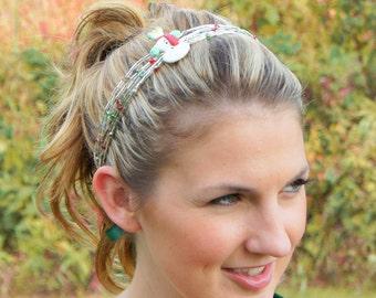 Snowman Beaded Headband - Holiday Headband - Christmas Headband - Fun Teachers Headband - Tie Headband - Crystal Czech Glass Hairband