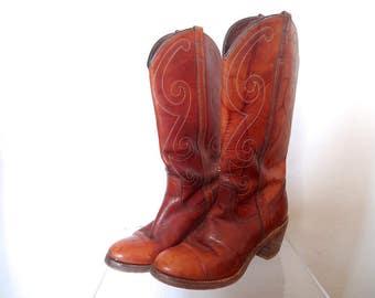 Vintage Dingo Cowboy Boots size 6M