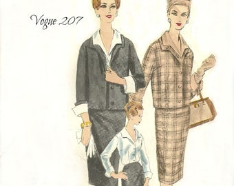 Vogue 207 Couturier Pattern Giovanelli of Italy Women's Suit and Blouse Size 12 Bust 30