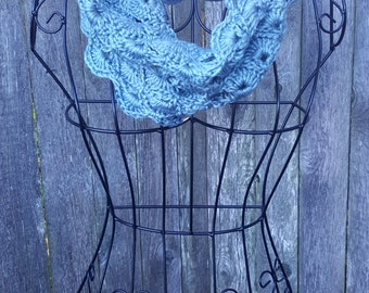 Cowl, chunky cowl, neck cowl, teen cowl, adult cowl, boston harbor scarf, scarf,  READY TO SHIP