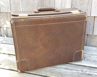 Vintage Salesman Suitcase, 1970s Sample Case