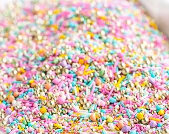 LUXURY SWEET Bulk Twinkle Sprinkle Medley, Pastel and Gold, Pastel Sprinkles, Gold, Sprinkle Mix
