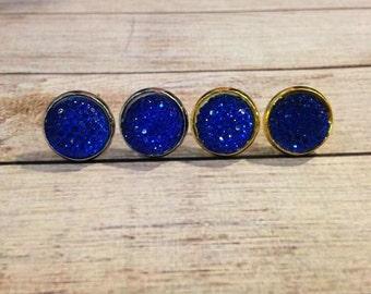The Bubble Earrings in Blue | Blue Earrings | Bubble Earrings | Bubble Jewelry | Blue Jewelry | Cobalt Blue Earrings | Royal Blue Jewelry