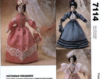 McCall's 7114 Victorian Treasures Sewing Pattern for Dolls and Clothes - Uncut