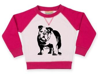 English Bulldog Baby Sweatshirt, Bulldog Toddler Sweatshirt, Personalised Baby Jumper, Custom Toddler Jumper, Custom Baby 1st Birthday Gift