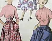 Vintage Advance 5426 Sewing Pattern, 1950s Skirt Pattern, Full Skirt Pattern, Large Pockets, High Waist, 1950s Sewing Pattern, Waist 25.5