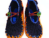 Slip On Leather Moccasins, Soft Leather Moccasins, Mary Jane Style Moccasins, Womens Moccasins, Hippie, Hippy, Boho, Fairy Shoes, Pixies