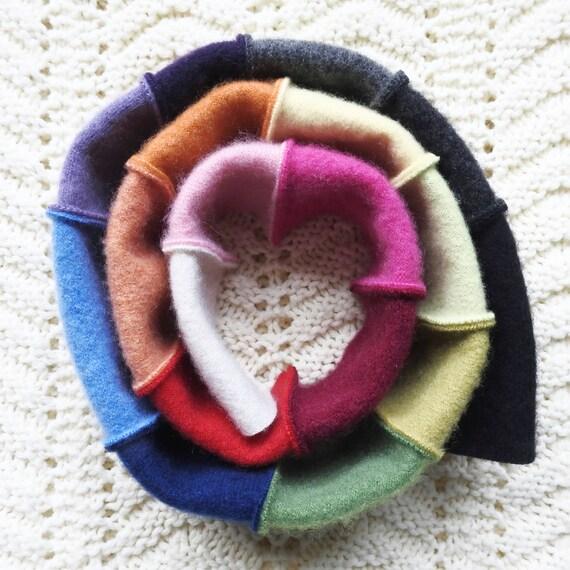 Rainbow Cashmere Scarf Patchwork Rainbow Scarf Eco Fashion Gift for Women Statement Neckwear Spectrum Colors Gift Under 50
