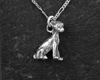 Sterling Silver Chihuahua Dog Pendant on a Sterling Silver Chain