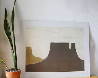 Peter Keefer Signed Lithograph, Taos XX