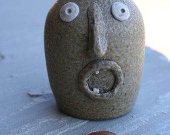 Small Salt Glazed Pottery Face Jug or Ugly Jug  NC Pottery