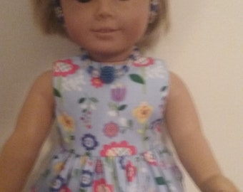 sundress , necklace, headband and shoes for american girl 18 inch doll.