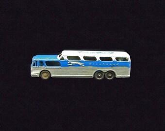 Vintage Tootsietoy Grey Hound Bus Scenicruiser Diecast Pressed Steel Toy Car
