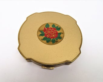 Vintage Compact | Fifth Avenue Powder Compact | Large Ladies Compact