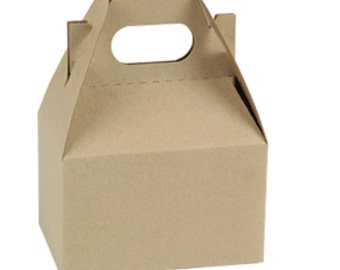 Mini Kraft Gable Box , Wedding Perfect, Favors, Welcome Gifts,  10 Boxes 4 X 2-1/2 X 2-1/2