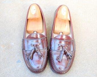 Vintage Mens 8d Cole Haan City Slip On Taeel Loafers Loafer Wingtips Classic Wedding Suit Dress Shoes Burgundy Boat Deck Shoes Hipster Mod