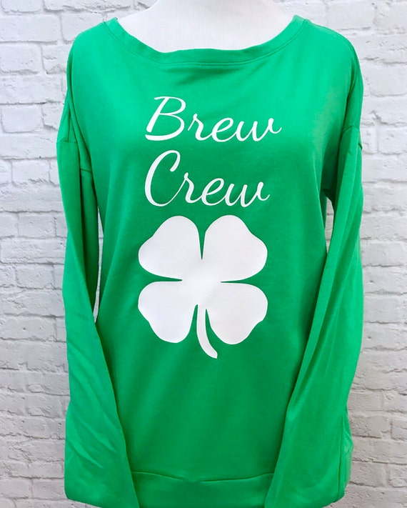 Lucky Bride Four Leaf Clover Saint Patricks Day Long Sleeve Sweatshirt