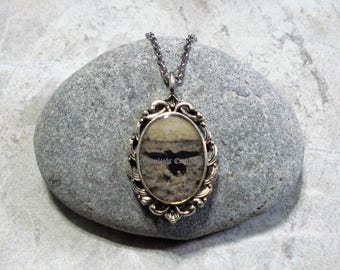 Raven Necklace, Crow Necklace, Raven Pendant Jewelry, Antique Silver