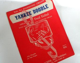 YANKEE DOODLE Sheet Music 1946 Organ Solo