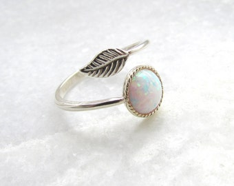 Opal Ring - Silver Ring, Boho Jewelry, Silver Opal Ring, Boho Ring, Gifts for her, UK Jewellery, Adjustable Ring, Opal Ring, Boho Jewellery
