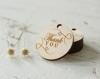 Thank You Tags Wood Thank You Tags Wedding Favor