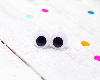 Googly Eyes Earrings, Wiggly Eyes, Silly Jewellery, Fun Earrings, Nickel Free