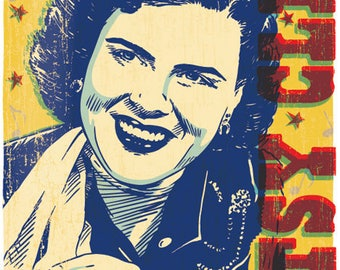 Patsy Cline - Pop Art Print - 13x19