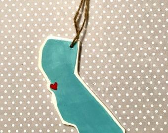 California State Ornament -- San Francisco -- I left my heart in San Francisco