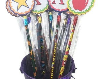 Classroom rewards, teacher rewards, treasure box rewards, classroom gifts, pencil favors, classroom favors, party favors, back to school