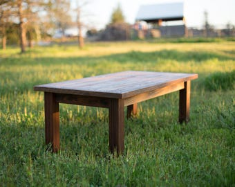 Rustic Farm Style Coffee Table made of Reclaimed Wood
