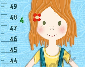 Canvas / Vinyl Growth Chart  for Girls who Love Nature & Outdoors