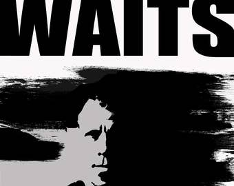 Tom Waits Brush Poster