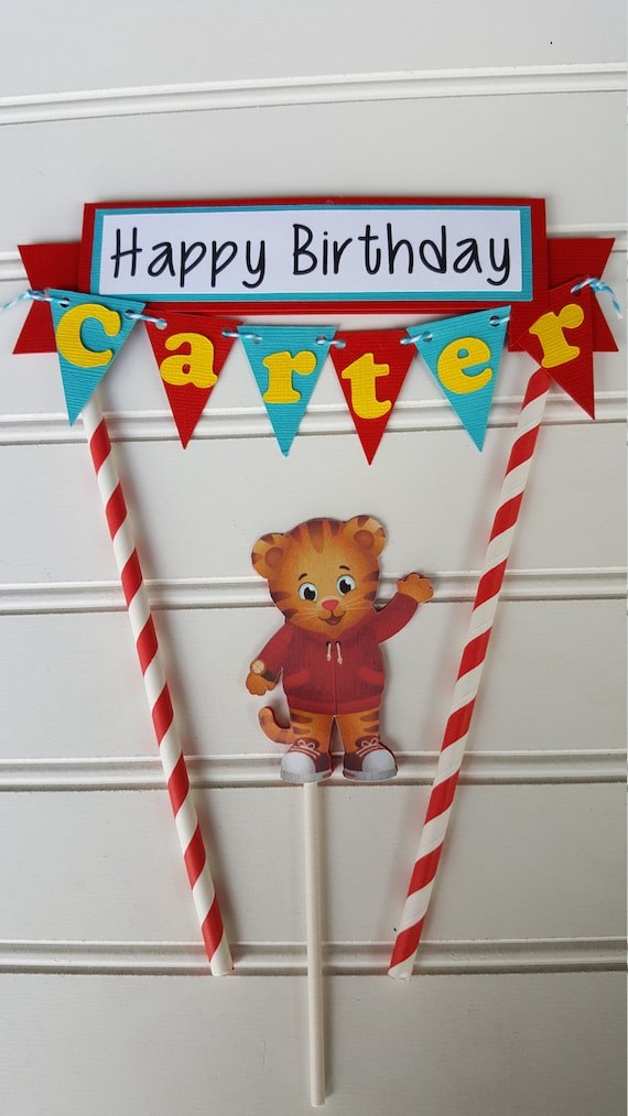 Daniel the Tiger Cake Topper Daniel the Tiger Party