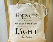 Harry Potter Tote Bag Quote Canvas Book Bag