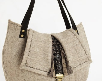 "Eco-Bag ""Anna"" felted eco handbag"