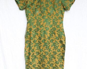 vintage cheongsam handmade dress