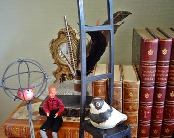 Charles Rennie MacKintosh Style, Apprentice Piece, Artist Degree Piece, Miniature Chair, Ladder Back Chair, Dolls Furniture, Wall Art