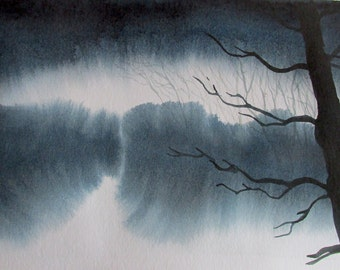 Winter Dream: original watercolor