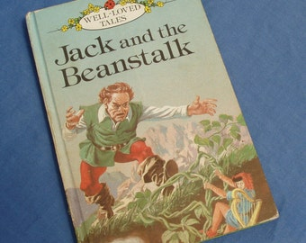 Jack and the Beanstalk - Vintage Ladybird Book Series 606D - Well-loved Tales - Matt Covers - 1980s
