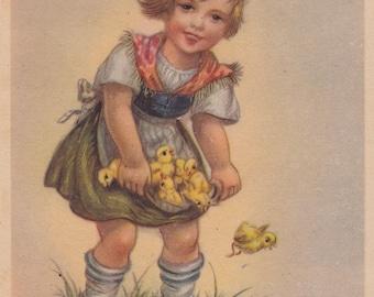 Vintage German Postcard -- 1950s