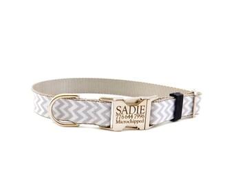 Chevron Dog Collar, Personalized Dog Collar