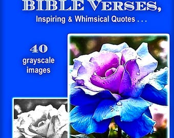 PDF Digital Download for Children & Grown Ups  Garden of EDEN  DIY add Bible verses over 35   grayscale Color or Paint book
