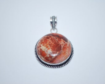Sea Sediment Jasper gemstone crystal spiritual pendant necklace with healing properties