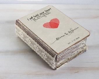 Ring bearer box, Personalized wedding box, Wedding ring box, Heart ring box, Ring bearer pillow Engagement box Custom ring box Ring Holder